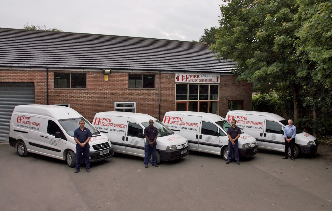 K&K Fire Protection Engineers vans and engineers